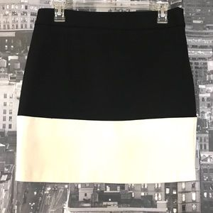Black and white color block pencil skirt 8